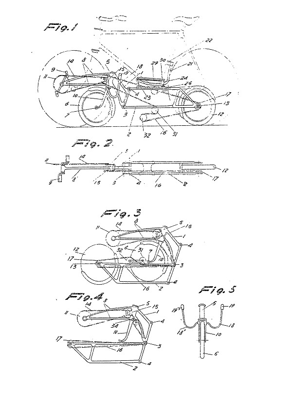 Andre Marcelin - folding recumbent bicycle patent