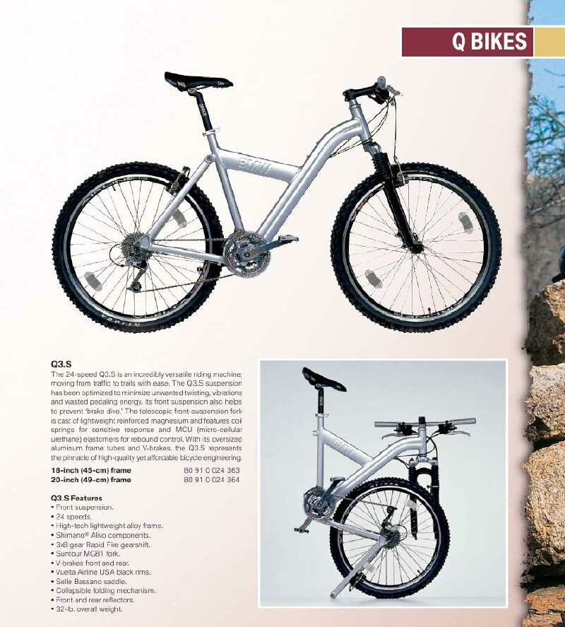 BMW Q3.S folding bike brochure