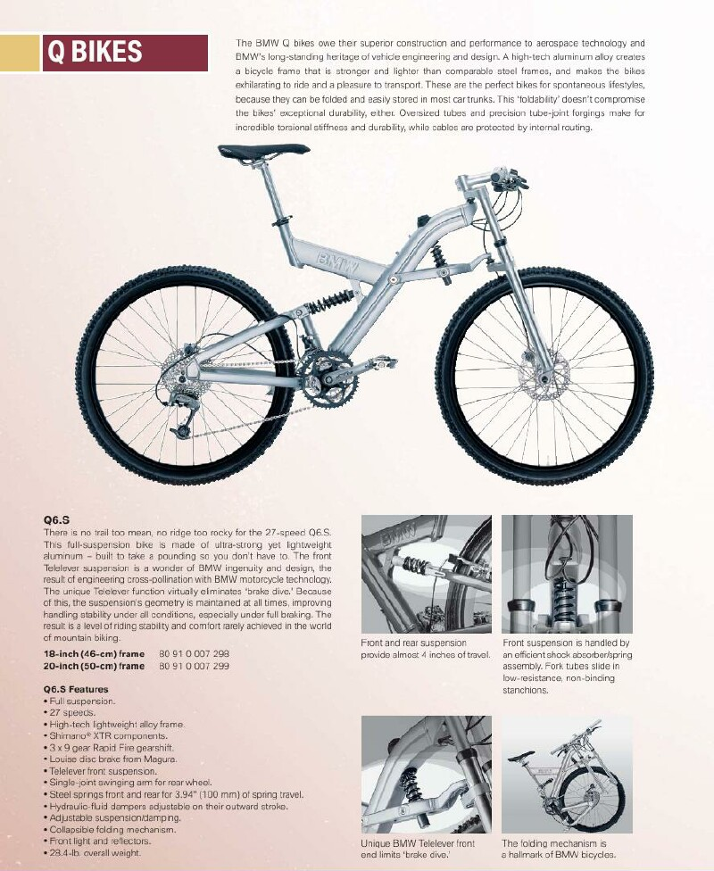 BMW Q6.S folding bike brochure