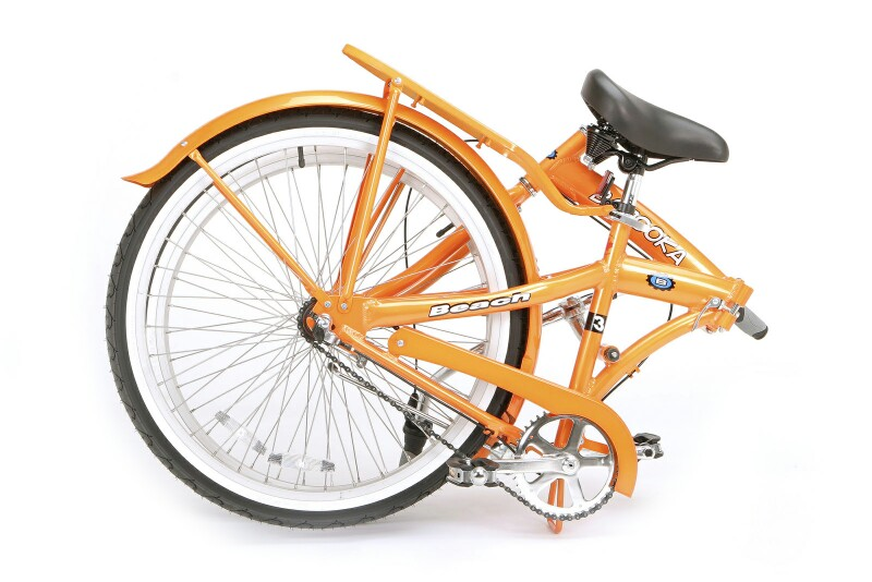 Bazooka Beach 3 folding bike - folded