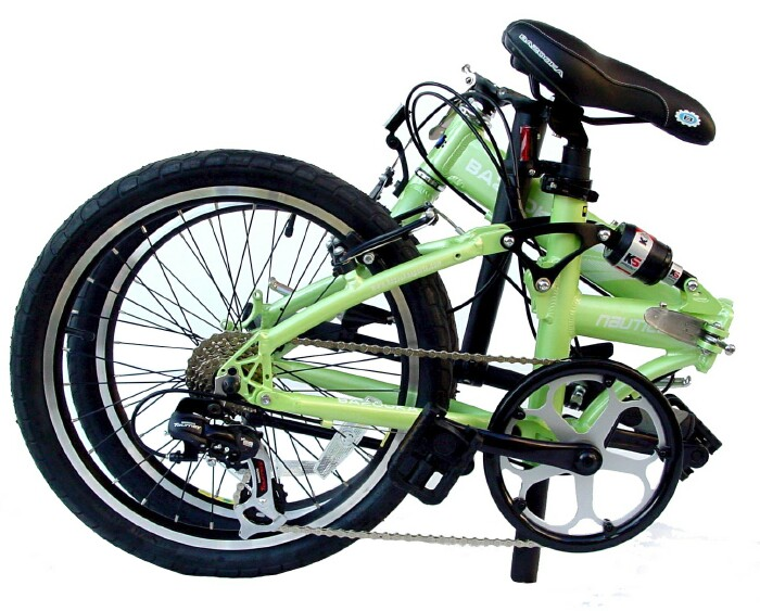 Bazooka Nautica-X folding bike - folded