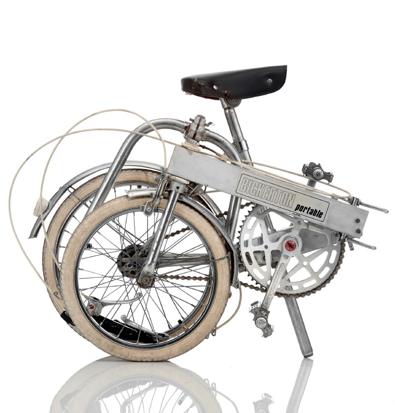 Bickerton folding bike - folded