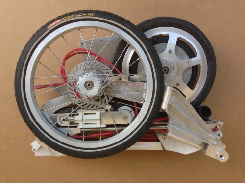 Bike Intermodal folding bike - folded