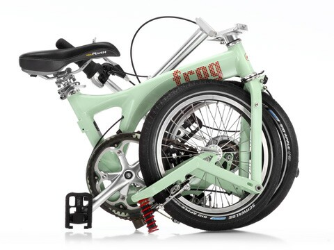 Birdy Frog folding bike - folded