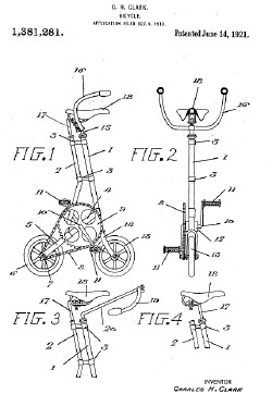 C.H. Clark city bike patent