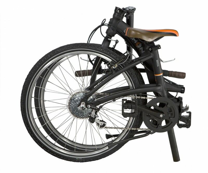 Dahon Briza D8 folding bike - folded