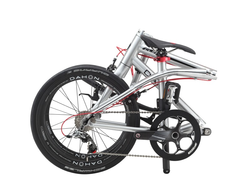 Dahon Clinch D10 folding bike - folded