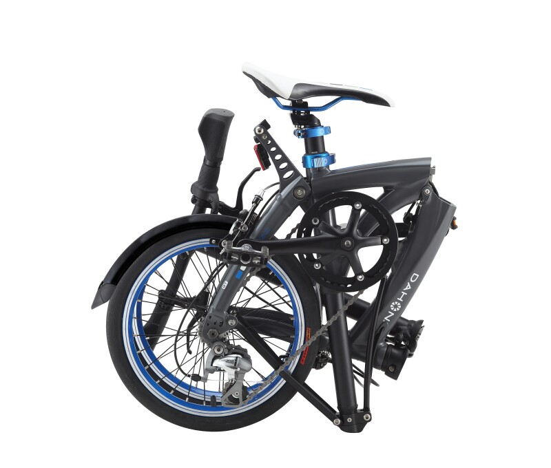 Dahon EEZZ D3 folding bike - folded