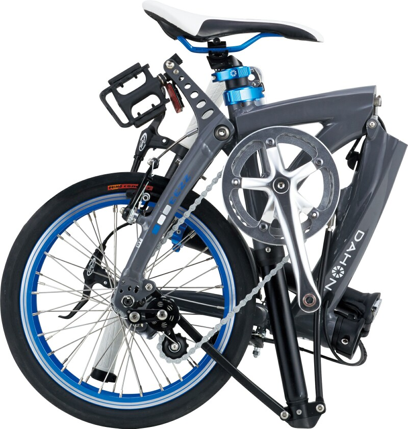 Dahon EEZZ folding bike - folded