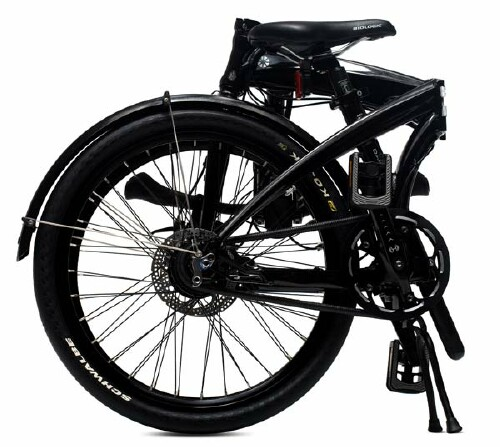 Dahon IOS XL folding bike - folded