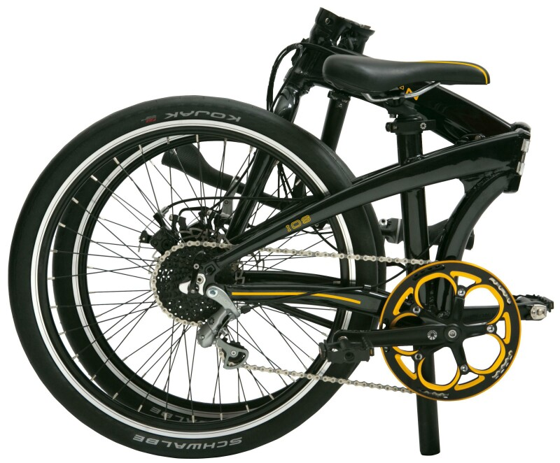 Dahon Ios S9 folding bike - folded