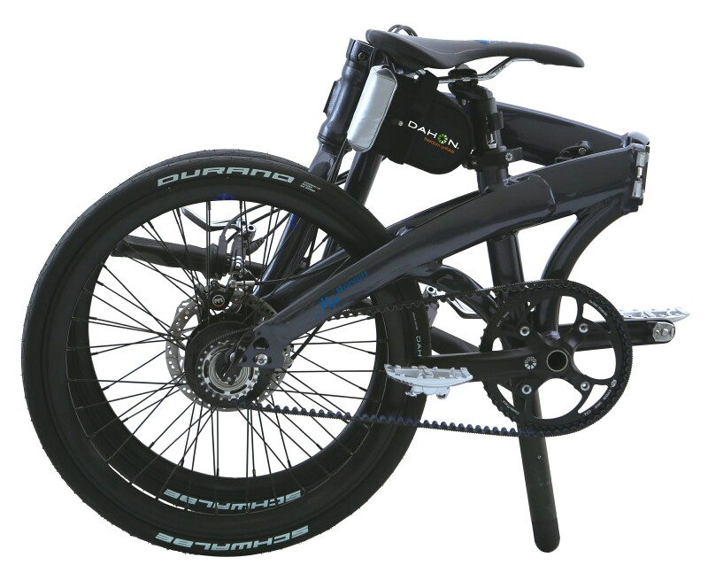 Dahon Mu Rohloff folding bike - folded