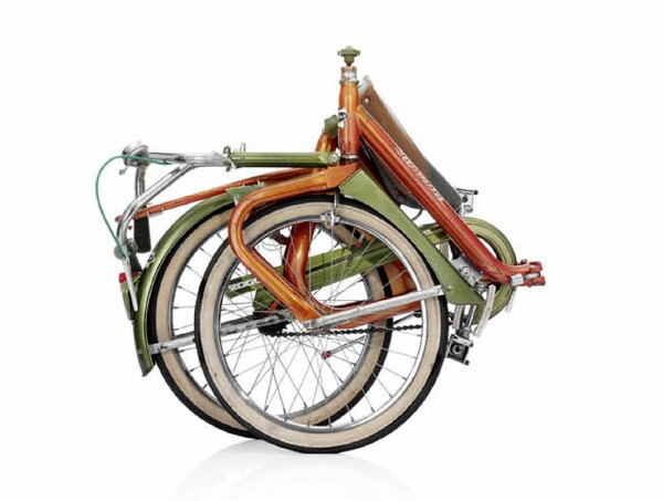 Late 60's Duemila Italian folding bike - folded