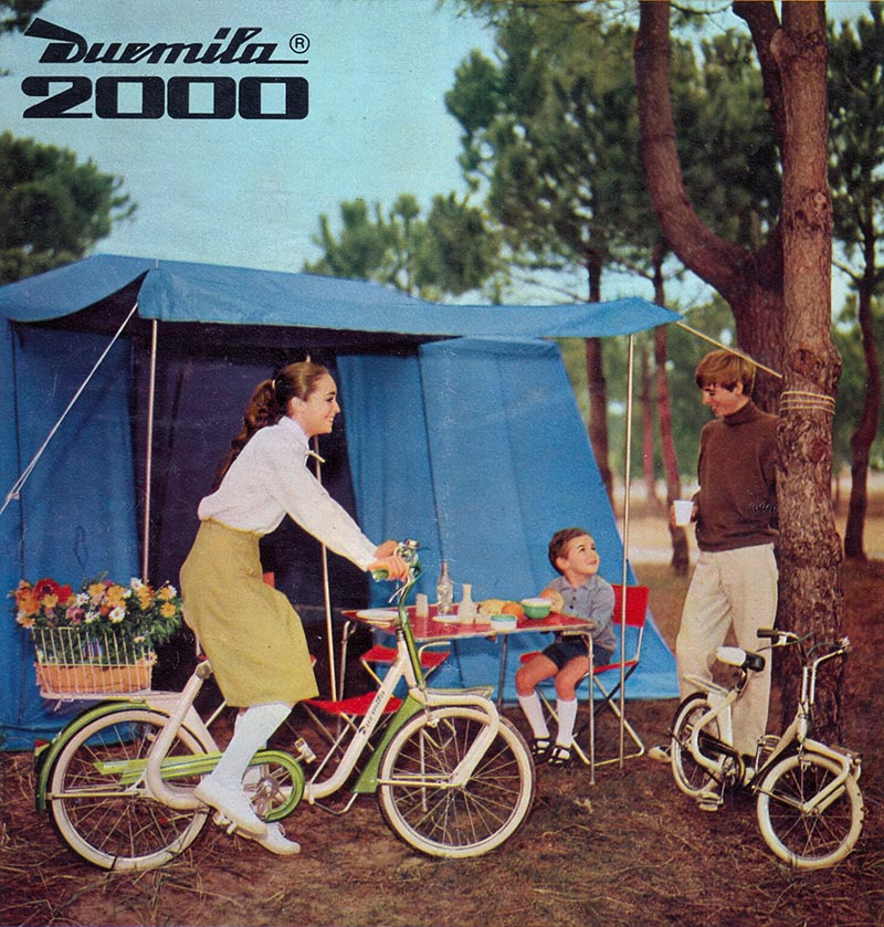 Duemila folding bike ad - camping