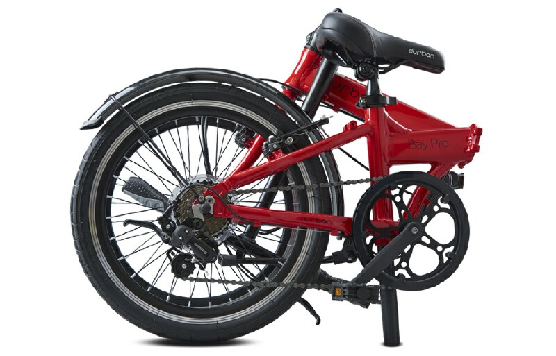 Durban Bay Pro folding bike - folded side view