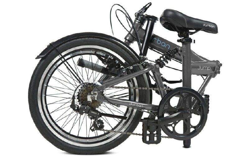 Durban Jump folding bike - folded view
