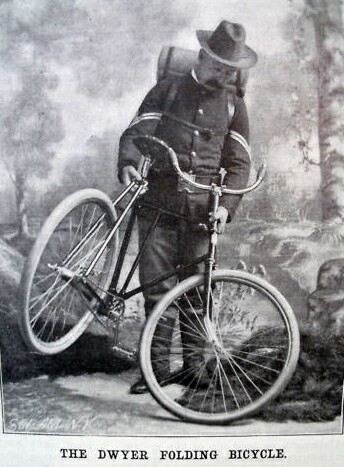 Dwyer folding bicycle - Scientific American March 13, 1897