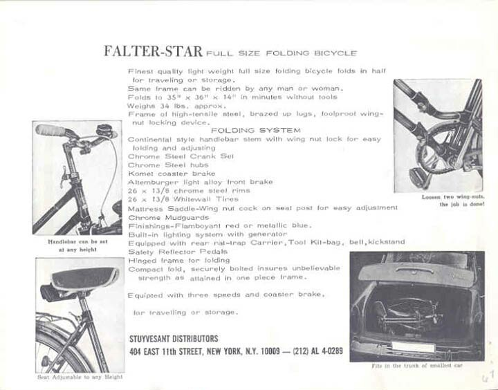 Falter Star folding bike brochure 02