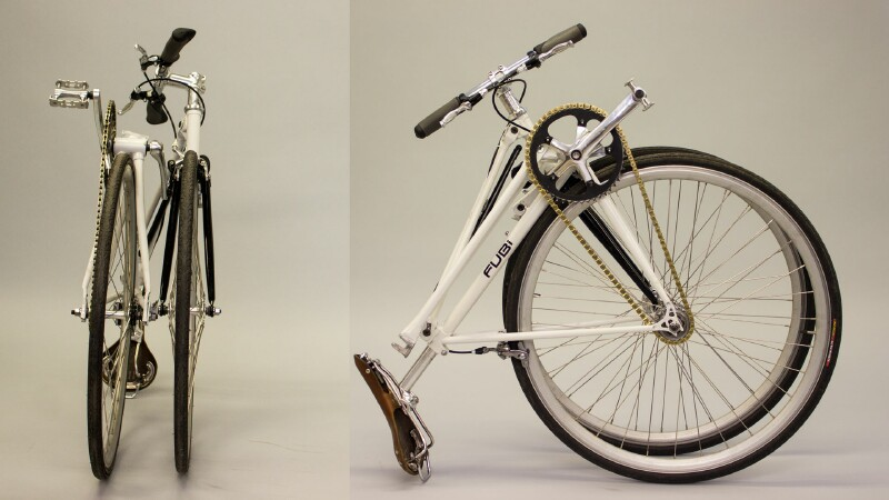 Fubi Fixie folding bike - folded