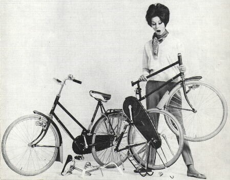 Gazelle Kwikstep folding bike advertisement
