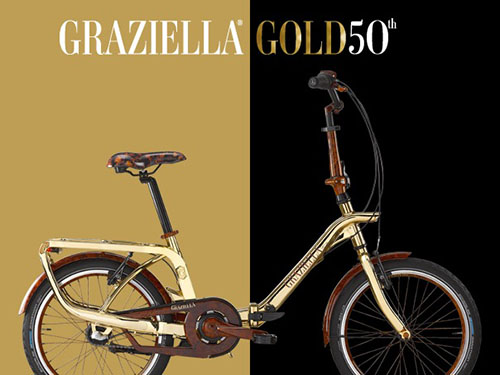 Graziella Gold folding bike - 50th Anniversary