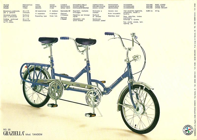 Graziella Tandem folding bike