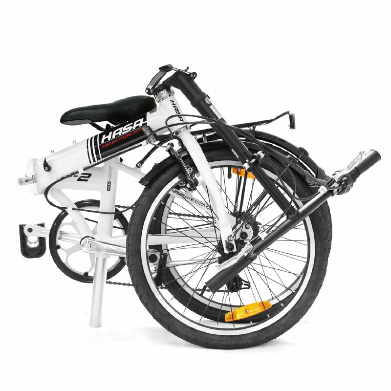 Hasa F2 folding bike - folded view