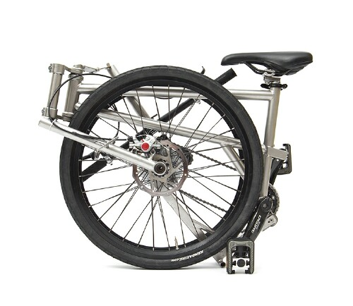 Helix folding bike - folded