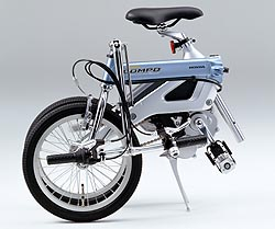 Honda Step Compo electric folding bike - folded