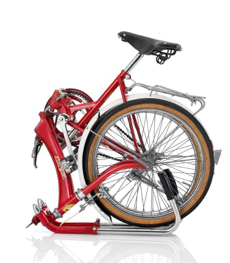 Katakura Silk Porta Cycle folding bike - folded