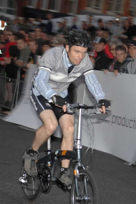 Keith Henderson - 2008 Smithfield Nocturne folding bike race winner