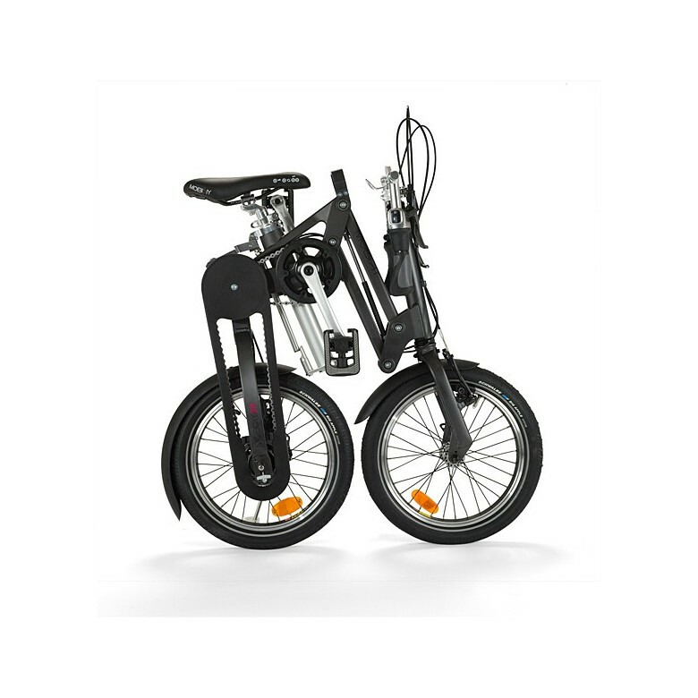 Mobiky 16 Steve folding bike - folded