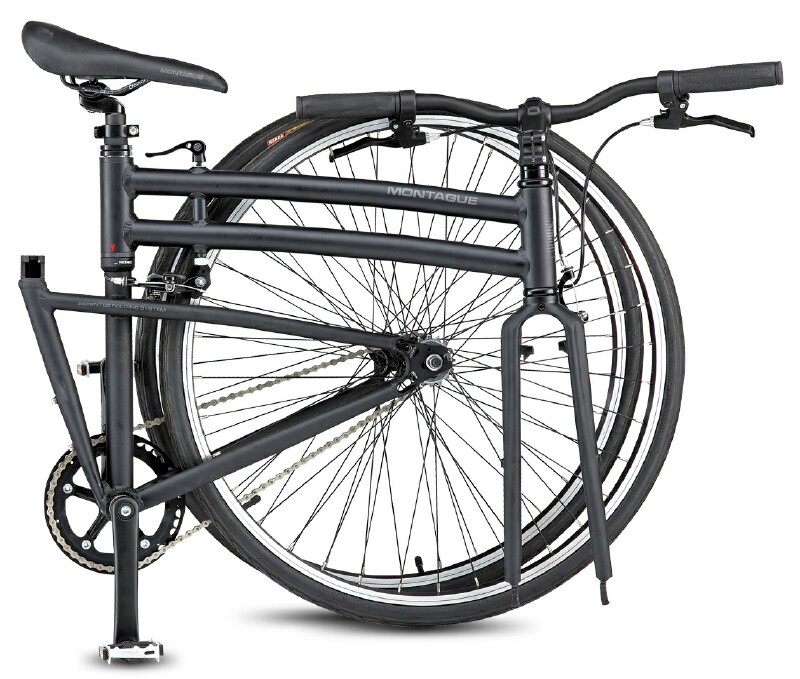 Montague Boston folding bike - folded