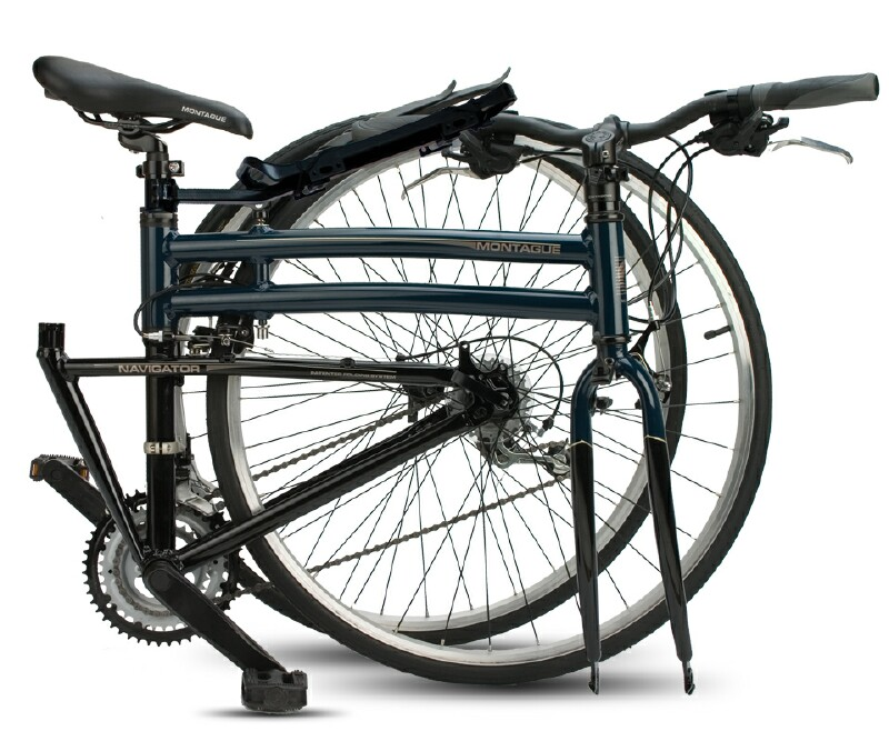 Montague Navigator folding bike - folded