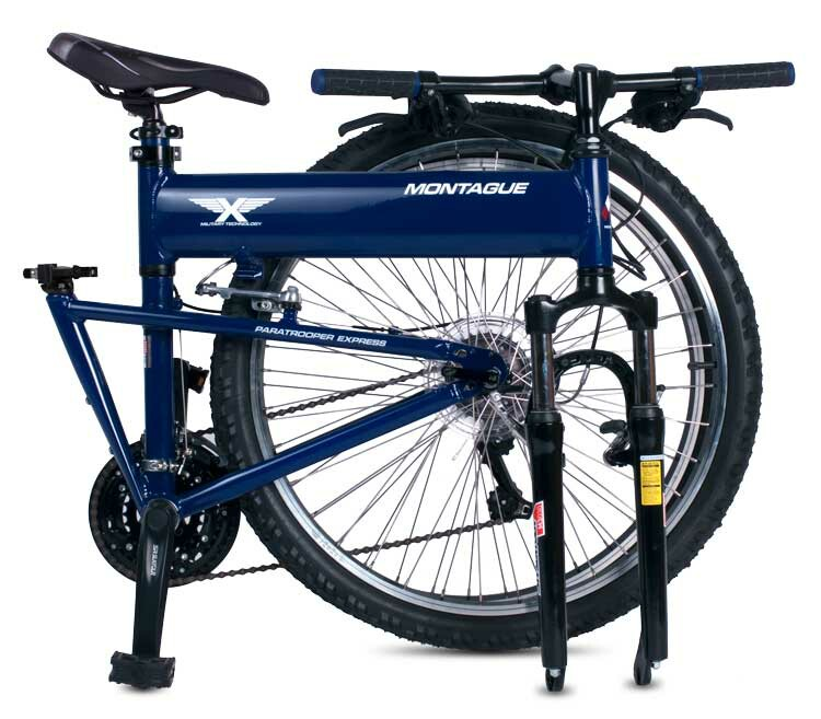 Montague Paratrooper Express folding bike - folded