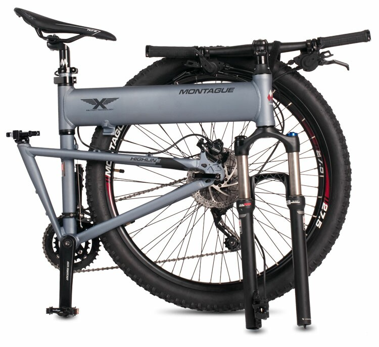 Montague Paratrooper Highline folding bike - folded