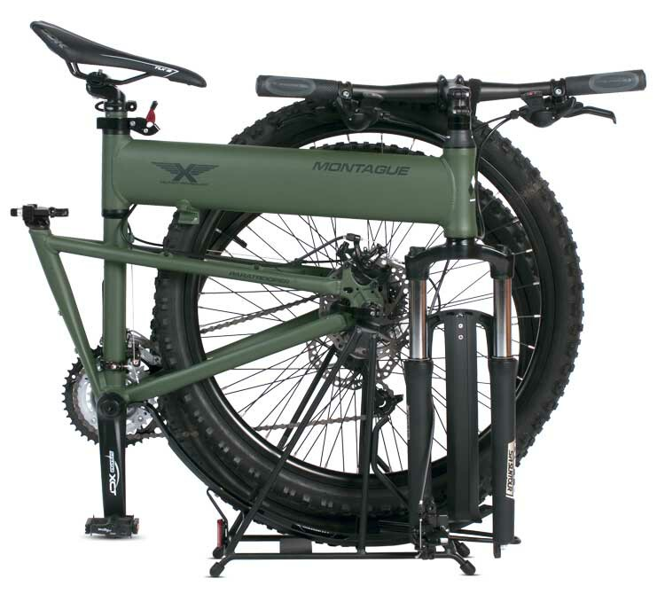 Montague Paratrooper folding bike - folded