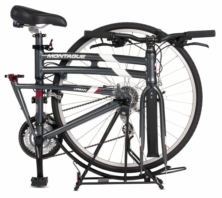 Montague Paratrooper Urban folding bike - folded