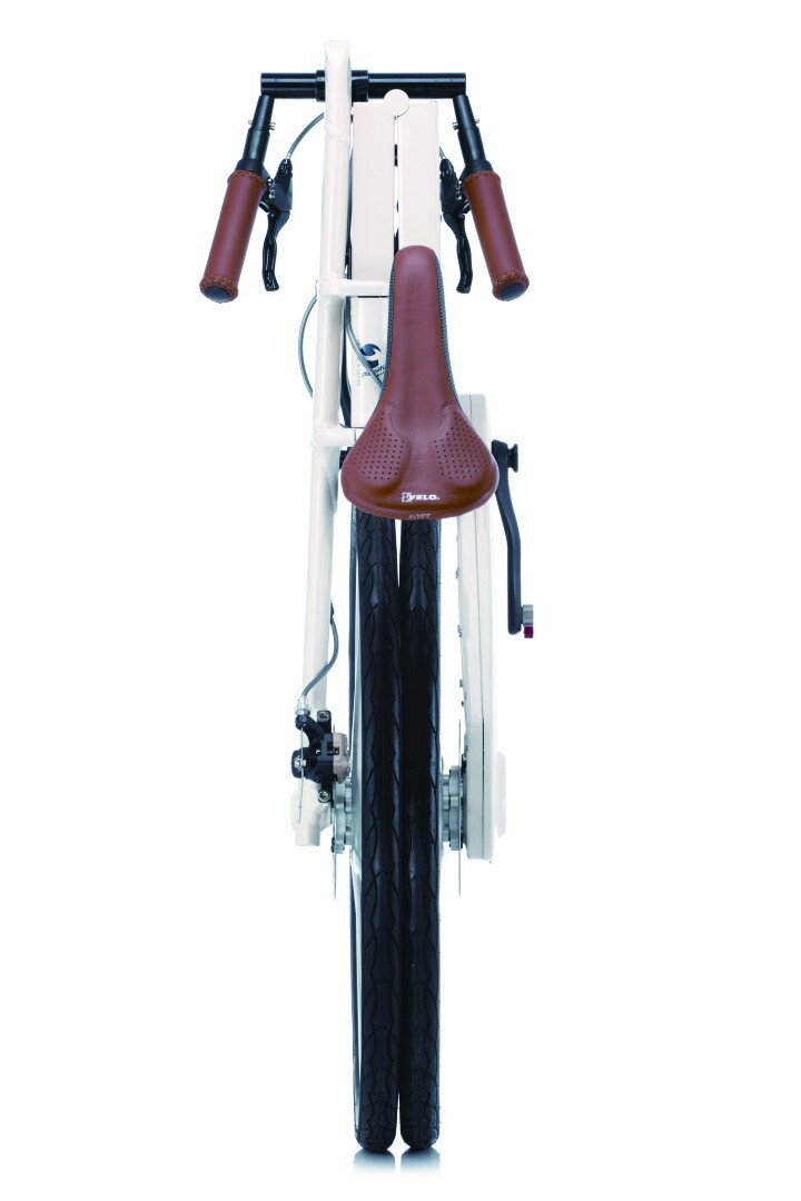 Pacific Cycles iF Mode folding bike - folded - end
