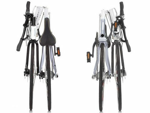 Pacific iF Urban 700C folding bike - folded - ends