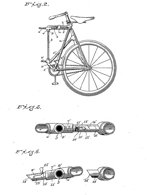 Michael B. Ryan folding bike patent used by Dwyer - 2