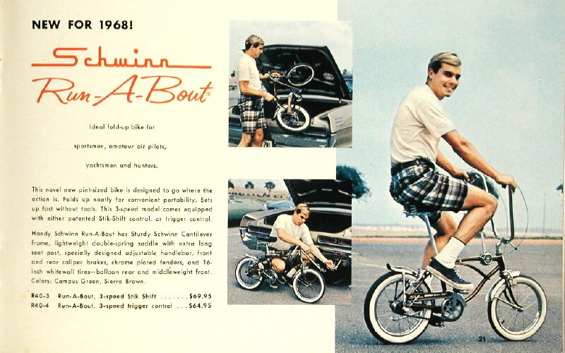 Schwinn Run-A-Bout bicycle catalog - 1968