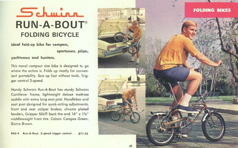Schwinn Run-A-Bout bicycle catalog - 1969