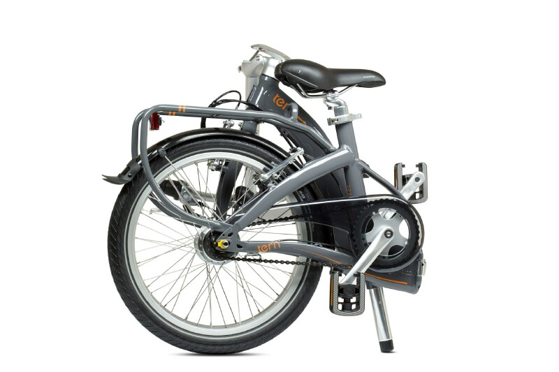 Tern Swoop D7i folding bike - folded