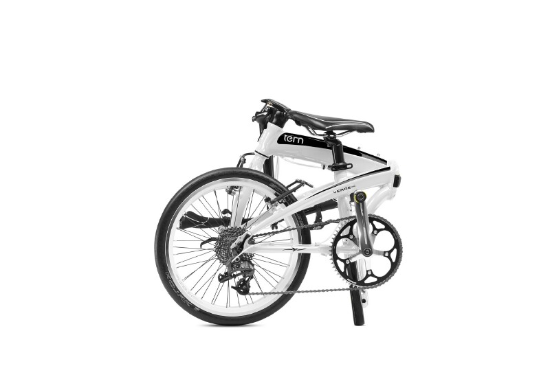 Tern Verge P9 folding bike - folded