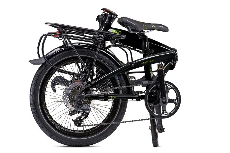 Tern Verge S27h folding bike - folded view