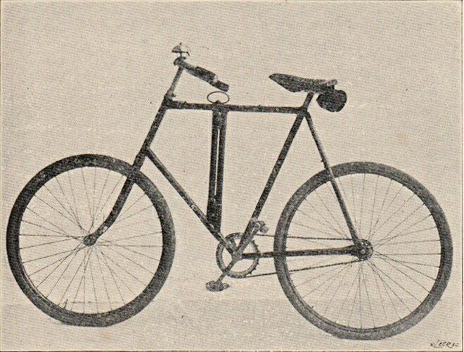 Bergers Wagtendonk Dutch military folding bike 1910